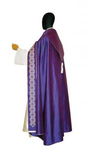 Piviale Cripta P119 Viola - Pura Seta