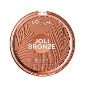L'Oréal Paris Joli Bronze Terra Make Up Abbronzante Viso in Polvere, Texture Leggera, 01 Portofino