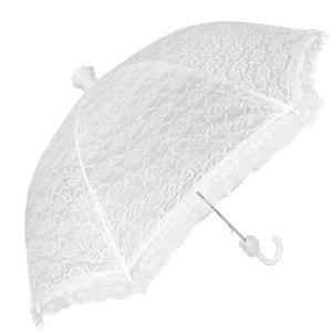 Ombrello Bianco Sposa Automatico Doppio Pizzo con Tessuto Antivento cm.51h diam.87