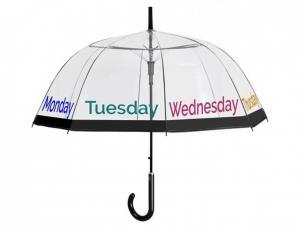 Ombrello Cupola Trasparente con scritte colorate cm.91h diam.89