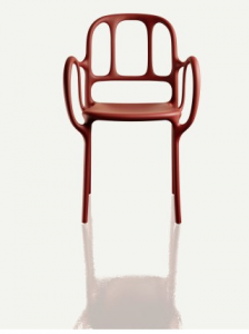 Sedia impilabile per interno/esterno Milà Magis