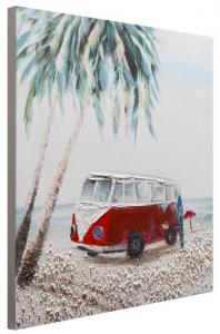 Dipinto a mano Red bus