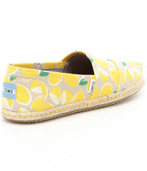 TOMS •  YELLOW LEMON ROPE SOLE