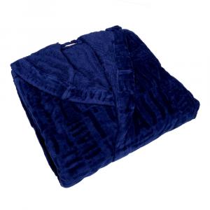 Alviero Martini 1 Classe accappatoio con cappuccio LOGOS XL blu