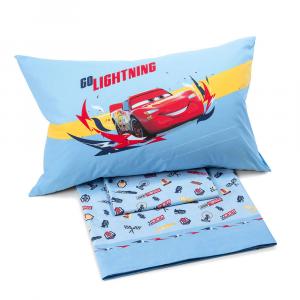 Set lenzuola Caleffi letto singolo 1 piazza Disney CARS Speed azzurro