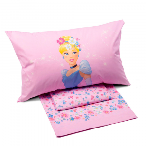 Set lenzuola Caleffi letto singolo 1 piazza Disney PRINCESS Romantica rosa