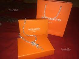 Collezione: FILI D'ARGENTO Bracciale bicolor con passanti di zirconi taglio diamante