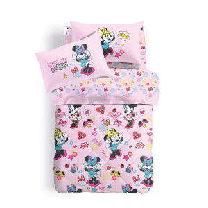 Set lenzuola Minnie Caleffi letto singolo Disney MINNIE HAPPY