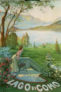 Poster su legno -Lago di Como