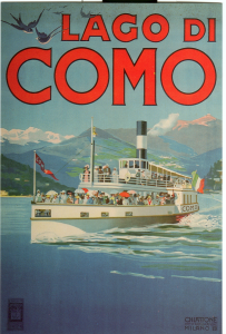 Poster su legno: Lago di Como