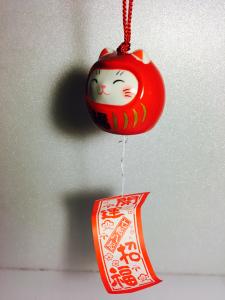 Furin Daruma - Maneki Neko, rosso