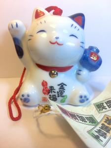 Furin, Maneki Neko in ceramica con Monete