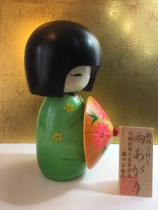 Bambola Kokeshi - Dopo la pioggia Verde