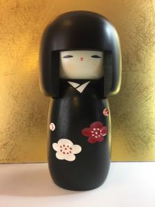 Bambola Kokeshi, Fiore Felice