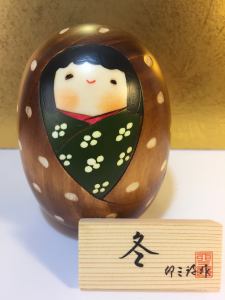 Bambola Kokeshi, Fuyo- inverno
