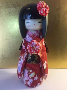 Bambola Kokeshi, Kyo-Bijin Rossa