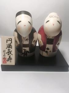 Bambola Kokeshi - La Coppia più Bella  (Enmanchoju)