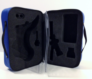 Valigetta in nylon blu, SpiroTiger® GO e Smart