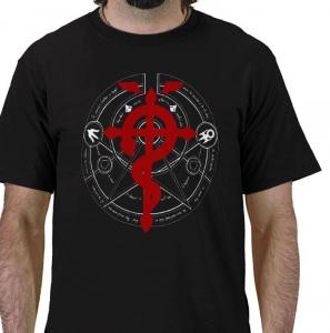 transmutation circle Homunculus  fma Fullmetal Alchemist  anime manga Black t-shirt