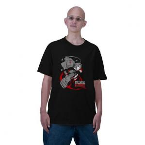 Edward and Alphonse Elric fma Fullmetal Alchemist characters protagonist anime manga Black t-shirt