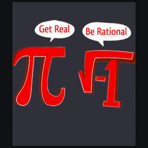 get real Pi be rational funny math algebra parody navy blue