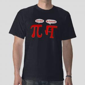 get real Pi be rational funny math algebra parody navy blue