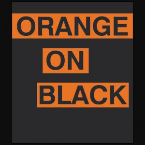 Simple Orange on Black