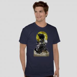 afro samurai navy blue t shirt free shipping