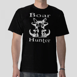 the Boar Hunter free shipping Black t shirt