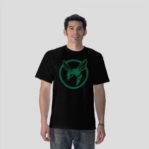 Green hornet white black t shirt