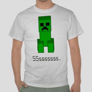 Minecraft the Creeper white t-shirt