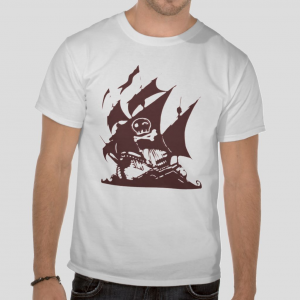 Pirates flag ship ocean white t shirt