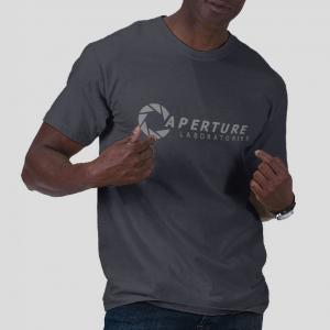 The aperture laboratories Portal navy t-shirt