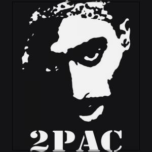 2Pac tupac Shakur American rapper black t-shirt