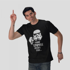The Empire Needs You - The Imperial Stormtroopers elite shock troops helmet Star Wars black t-shirt
