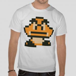 Goomba super mario bros video games white t-shirt