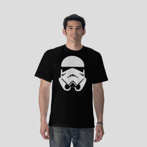The Imperial Stormtroopers elite shock troops helmet Star Wars  black t-shirt