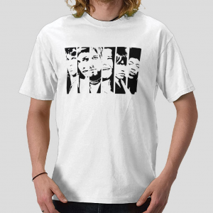 The Legend rock stars White black t-shirt