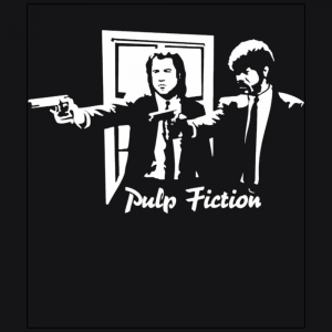 Vincent and Jules Pulp Fiction Movie Black T-Shirt