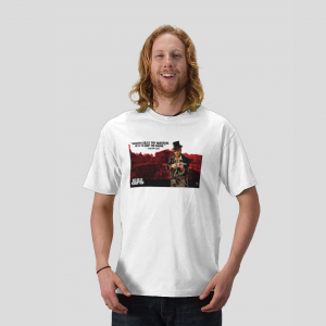 Walton Lowe Red Dead Redemption Whoever kills the Marshal gets to keep the badge white t-shirt