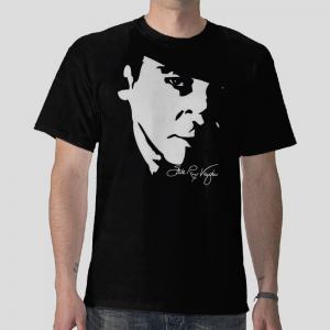 Stephen Stevie Ray Vaughan srv American guitarist Black t-shirt