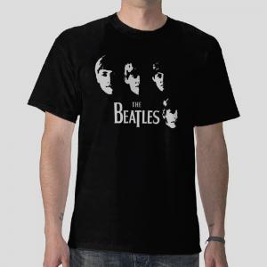 The beatles member band balck t-shirt