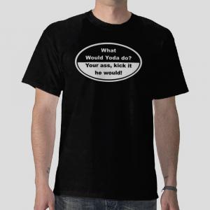 What would Yoda do star wars black t-shirt
