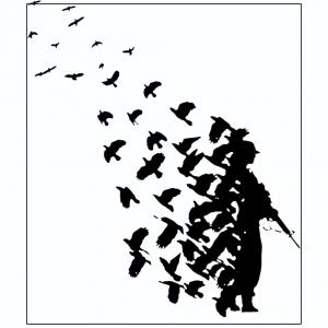 Soldier of Crow bird gun men