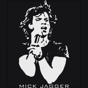 mick jagger rolling stones musician rock stars Black t-shirt