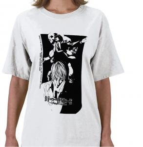 Night -light Yagami Kira and L dead note shinigami ryuuk white t-shirt