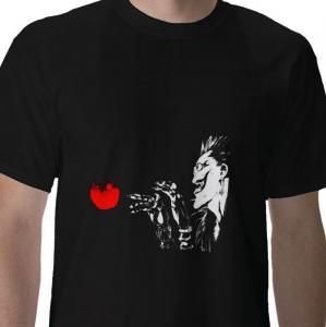 Death Note shinigami ryuuk from hell reaper apple anime manga  black t-shirt