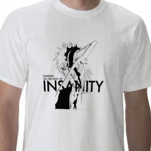 Insanity fight Shinigami human Kurosaki Ichigo Soul Society hollow mask Bleach anime manga white t-shirt