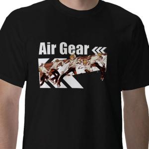 Air Gear japanese Anime manga Black t-shirt