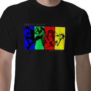 See You Space cowboy - Bebop bounty hunter crew member space ship Anime black t-shirt